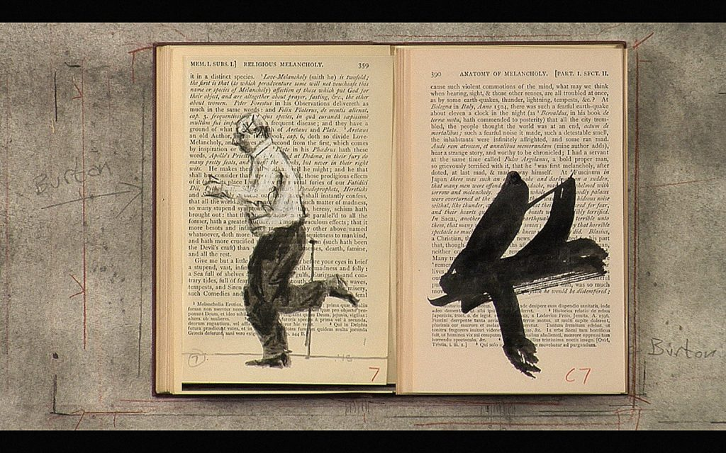 """Tango for Page Turning,"" by William Kentridge, 2013, single-channel HD video, 2 minutes, 48 seconds."