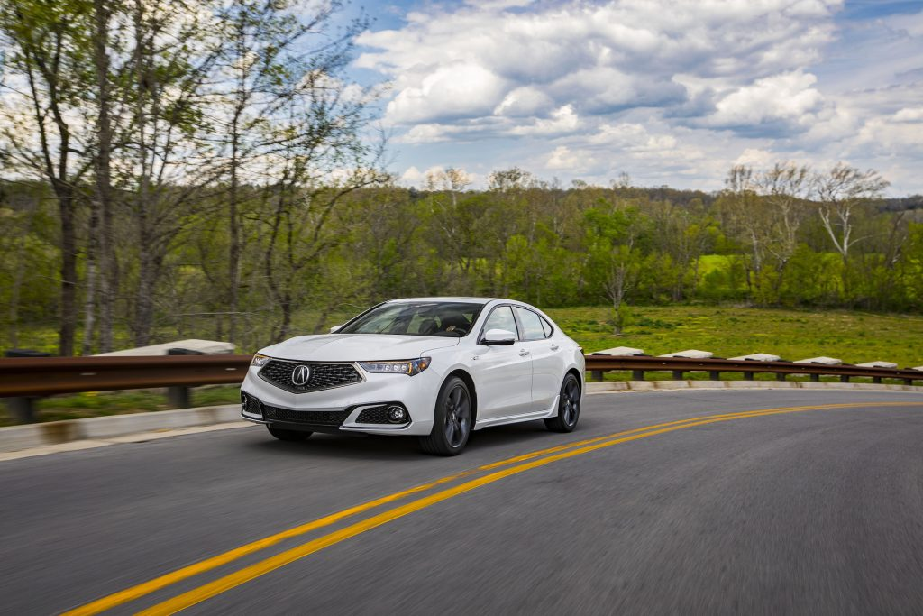 The 2018 Acura TLX features an entirely new nose that features a handsome need grille first seen on the Acura Precision Concept car and the 2017 MDX.