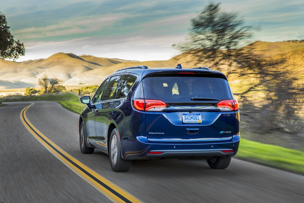 With an estimated 33 miles of battery-powered electric range, as rated by the EPA, the 2017 Chrysler Pacifica Hybrid moves briskly and silently in electric mode.