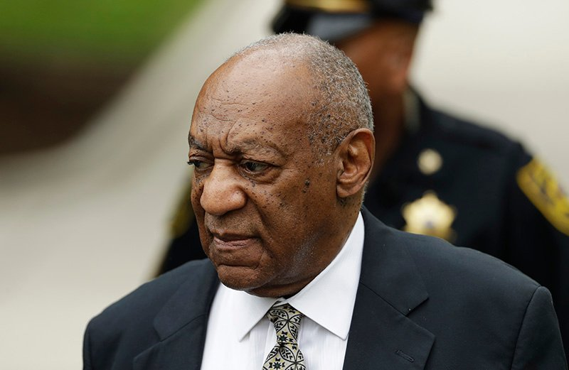 Bill Cosby arrives for jury deliberations in his sexual assault trial at the Montgomery County Courthouse in Norristown, Pa., on Thursday.