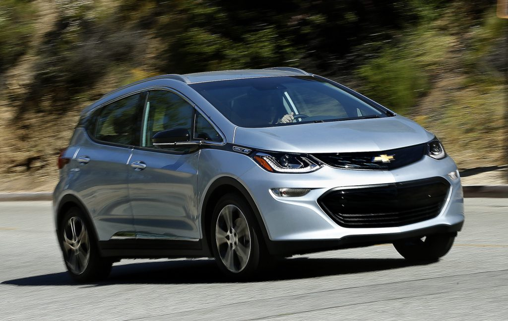 The 2017 Bolt EV, Chevrolet's answer to Tesla's Model 3, capable of traveling 238 miles on a single charge.
