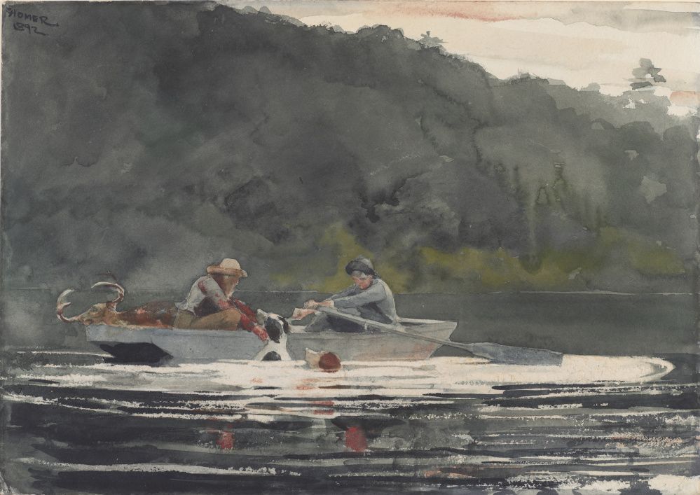 """The End of the Hunt,"" by Winslow Homer, 1892, watercolor over graphite."
