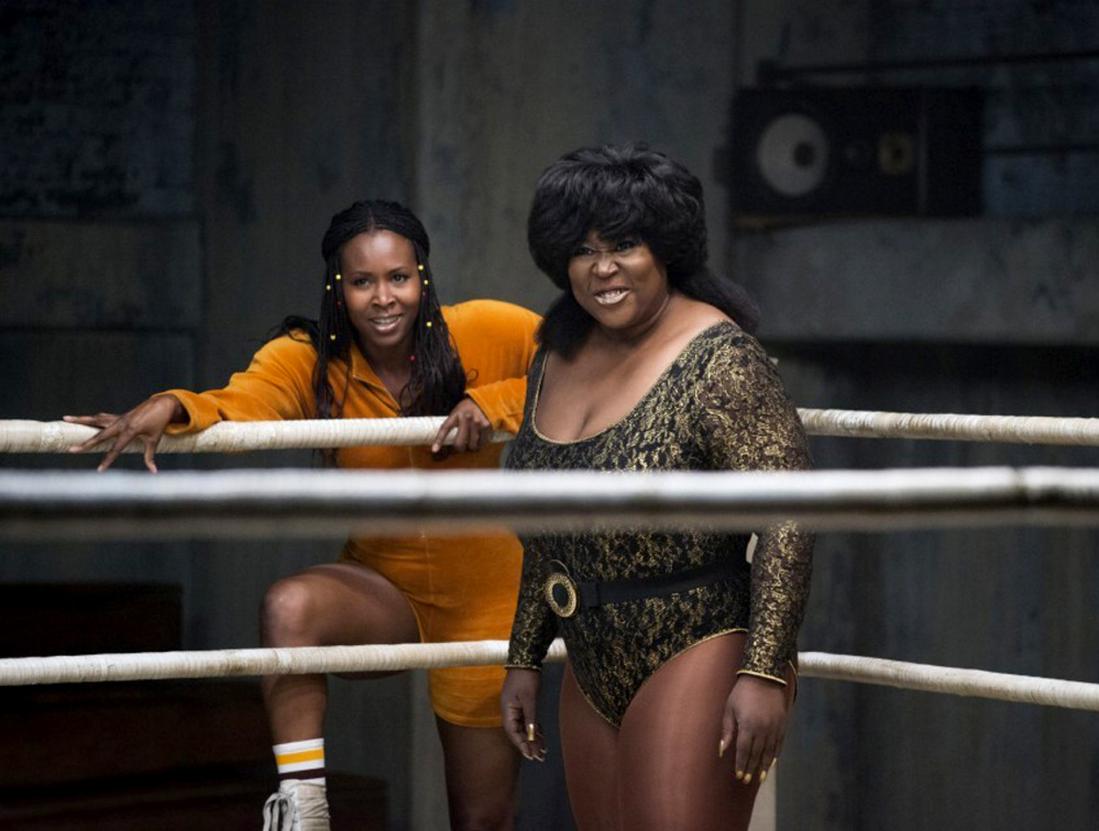 "Sydelle Noel and Kia Stevens in Netflix's ""GLOW."""