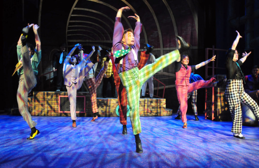"""The Crapshooters' Dance"" in Maine State Music Theatre's production of ""Guys and Dolls."""