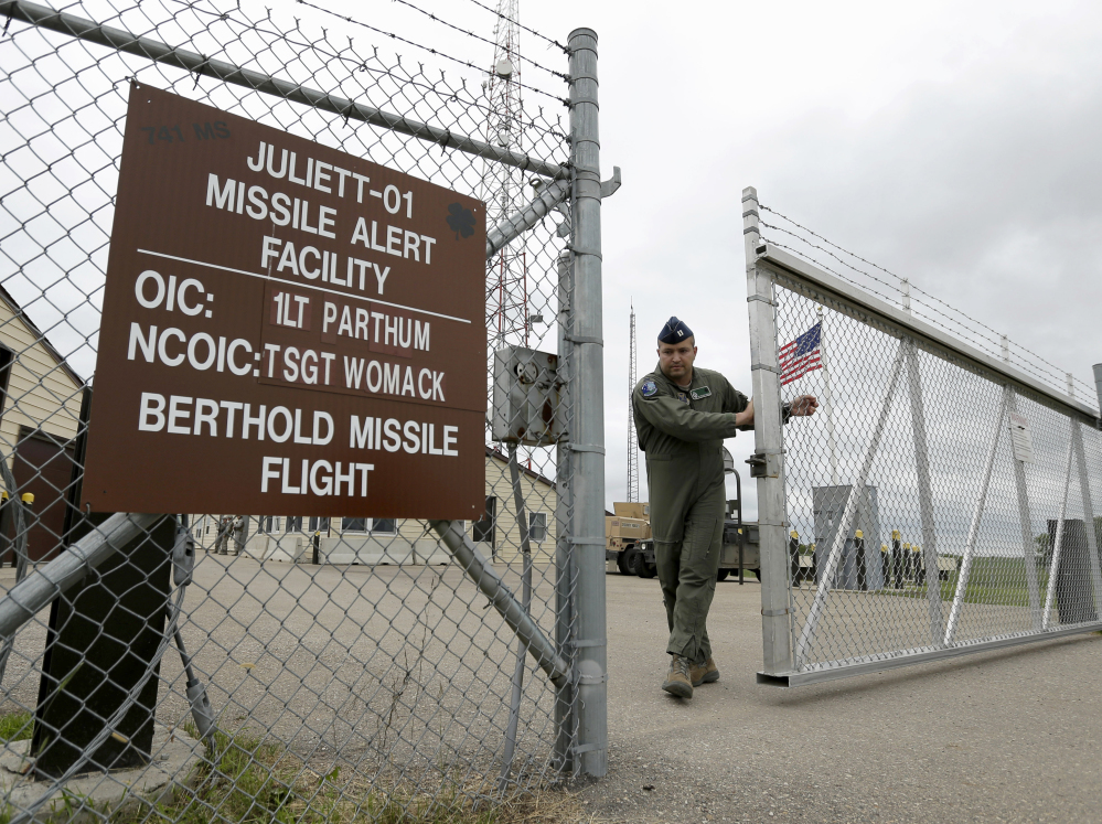 A gate is closed at an ICBM launch control facility outside Minot, N.D., on the Minot Air Force Base. Critics question the lockdown of assessments of how safely and securely nuclear weapons are operated, maintained and guarded.