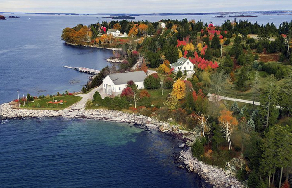 Hope Island, which is part of the municipality of Chebeague Island, has nine habitable buildings, including an 11,295-square-foot main house. The island has 15 drilled wells, nine septic systems and lighted concrete roads.