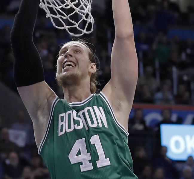Kelly Olynyk, who was dropped by the Boston Celtics in a salary-cutting move, will sign a four-year contract with the Miami Heat.