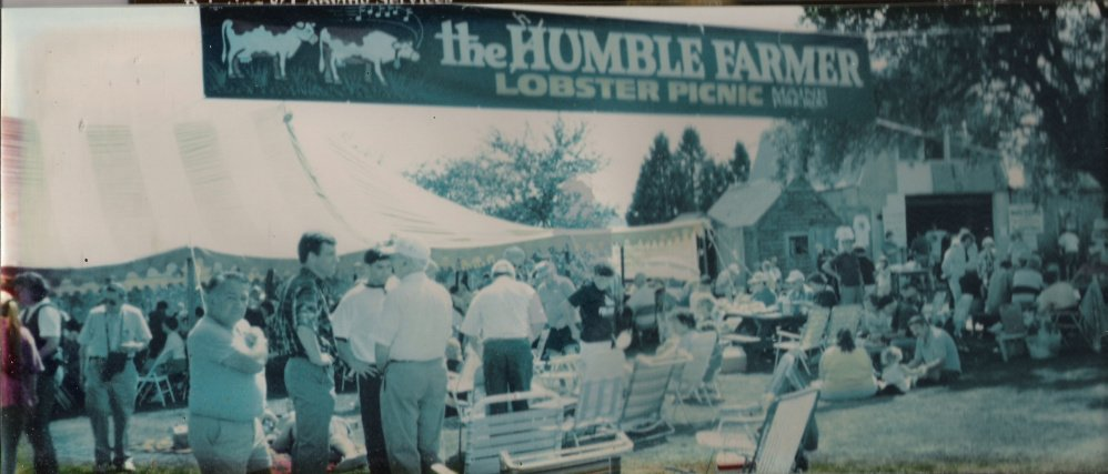 "The secret to putting on an event like The humble Farmer's longtime annual free lobster picnic? ""Enjoy doing it,"" he says."
