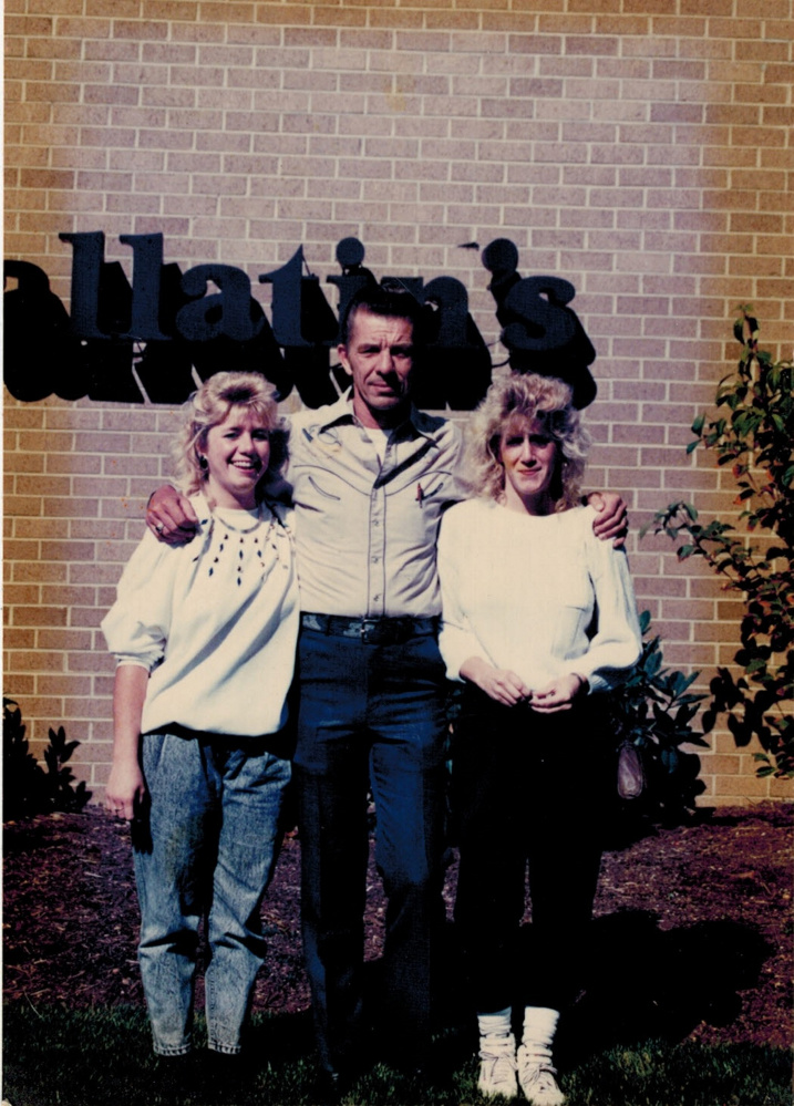 "Ambrosse ""Tom"" McCarthy, center, with Lori Hayden, left, and Trisha Austin in about 1989. McCarthy helped raise the girls with their mother, Darla Pickett, after their biological father was killed in a traffic accident."