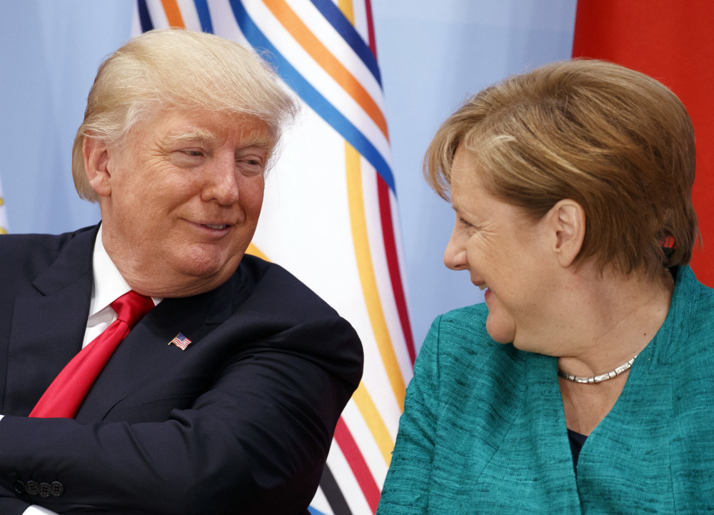 President Trump called German Chancellor Angela Merkel