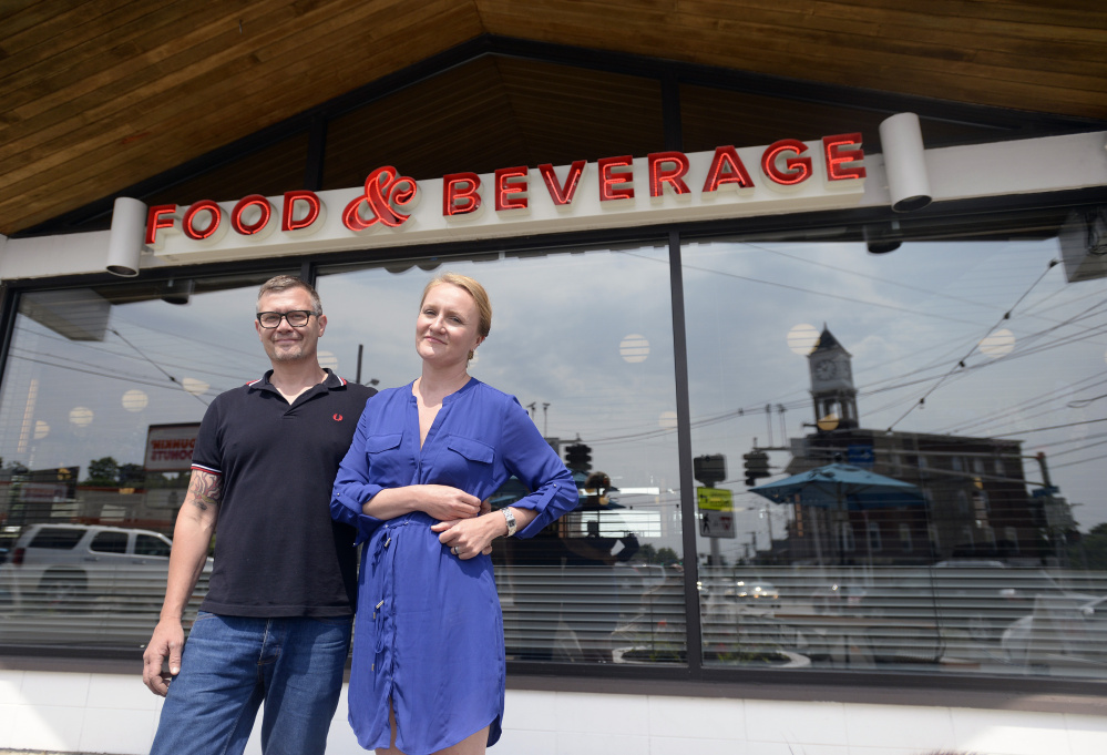 "Birch Shambaugh and Fayth Preyer opened Woodford Food & Beverage on Forest Avenue at the intersection of four Portland neighborhoods. ""We could see ... that this could be a place where all the people in this neighborhood could walk,"" Preyer said."