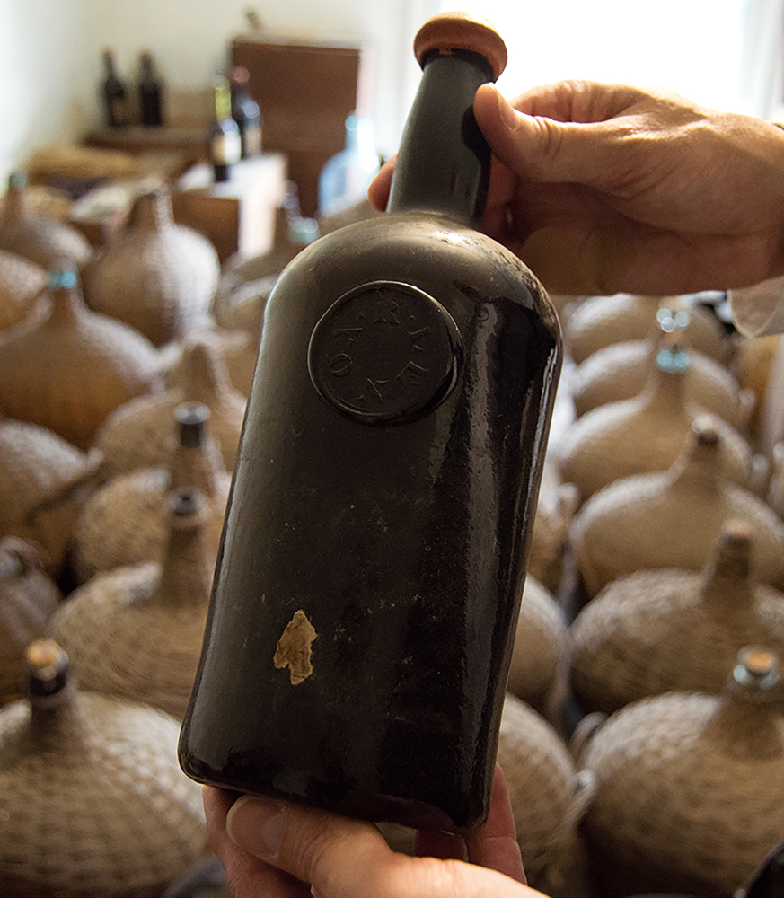 Workers at a New Jersey museum found dozens of bottles of Madeira wine.work at a New Jersey museum.