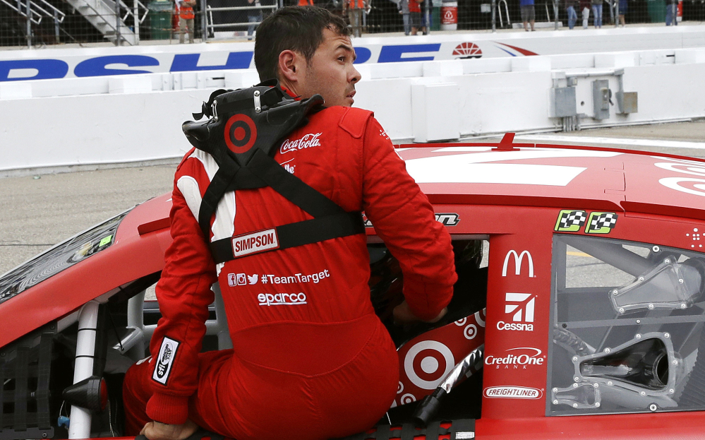 Kyle Larson's bad week continued Friday at New Hampshire Motor Speedway when his qualifying lap was disallowed, handing the pole to his chief rival in the Cup Series standings – Martin Truex Jr.