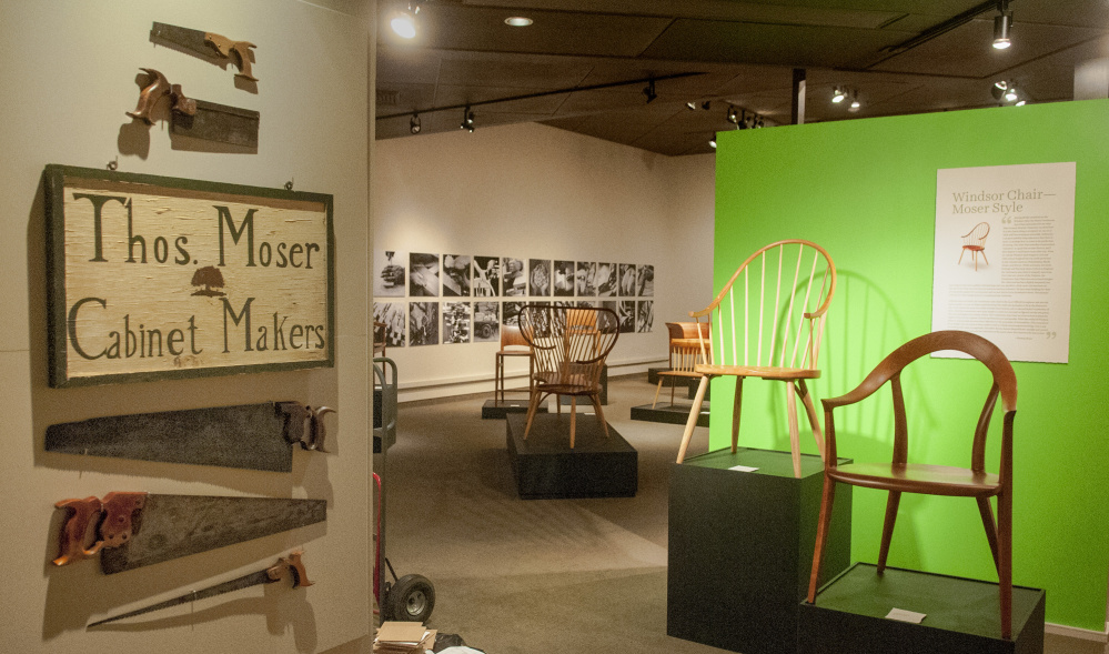 """Thos. Moser: Legacy in Wood,"" which debuted at Maine College of Art in 2015, opens Saturday for a run at the Maine State Museum in Augusta. Moser left an academic post decades ago, saying he wanted to work with his hands."