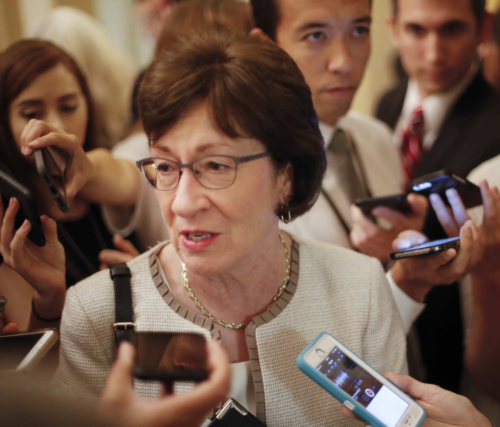 "Asked about Vice President Mike Pence's claim that Medicaid would be helped by the Republican health care bill, Maine Sen. Susan Collins said, ""I see it very differently."""