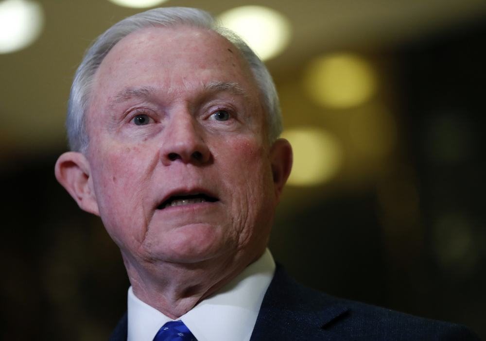 """Attorney General Jeff Sessions said in a speech Monday """"We hope to issue this week a new directive on asset forfeiture – especially for drug traffickers."""""""