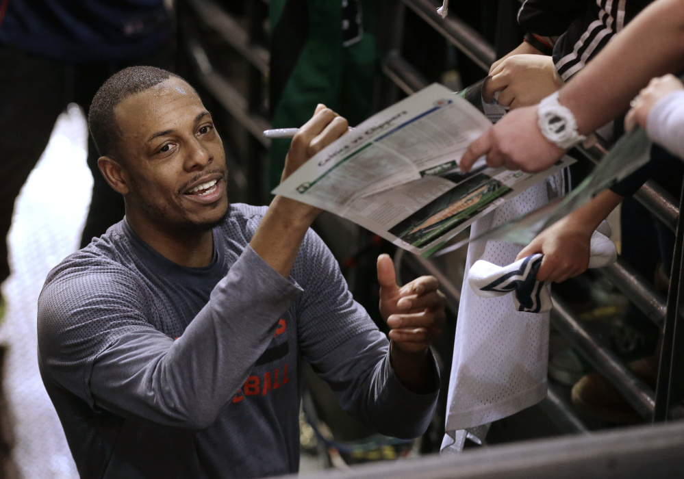Paul Pierce spent 15 seasons with the Celtics before being traded to Brooklyn in 2013. He signed with the Celtics on Monday so he could retire with the team.