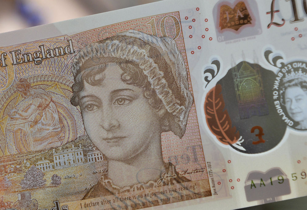 The new £10 note is unveiled on the 200th anniversary of Jane Austen's death.