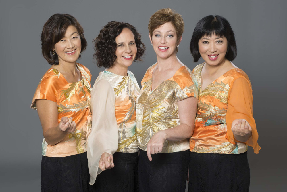 Members of the Cassatt String Quartet, Ah Ling Neu, viola; Elizabeth Anderson, cello; Jennifer Leshnower; and Muneko Otani, violins