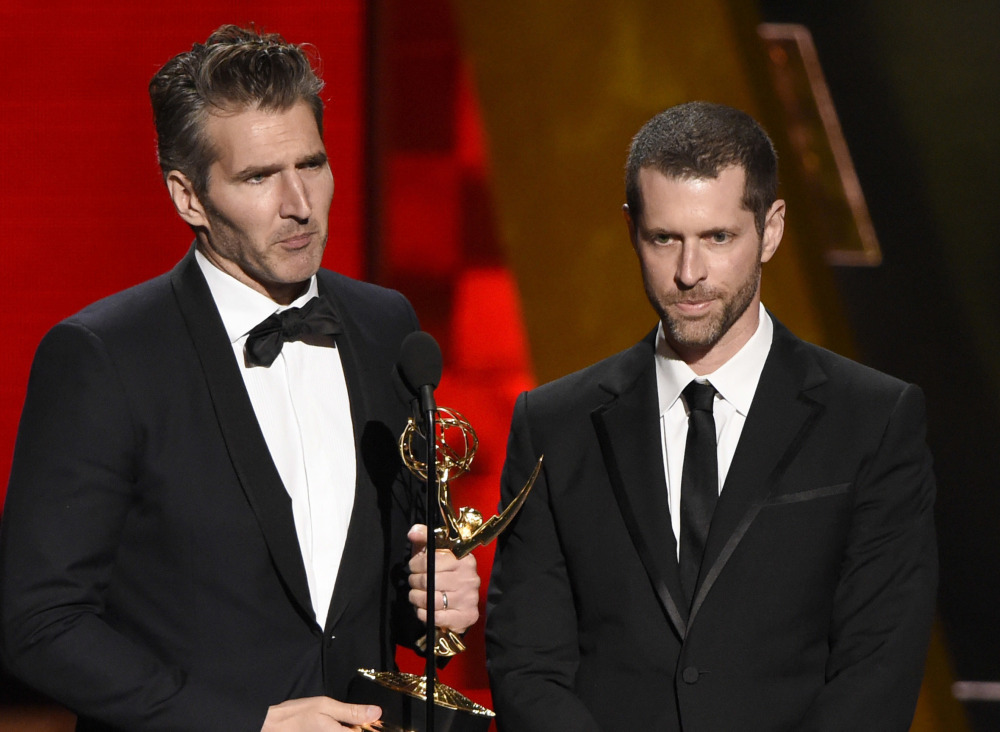 David Benioff, left, and D.B. Weiss, creator-showrunners of