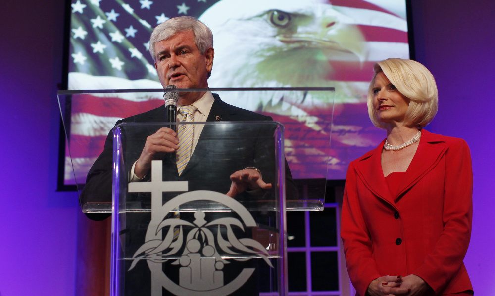 Callista Gingrich was frequently at Newt Gingrich's side as he campaigned for president in 2012.