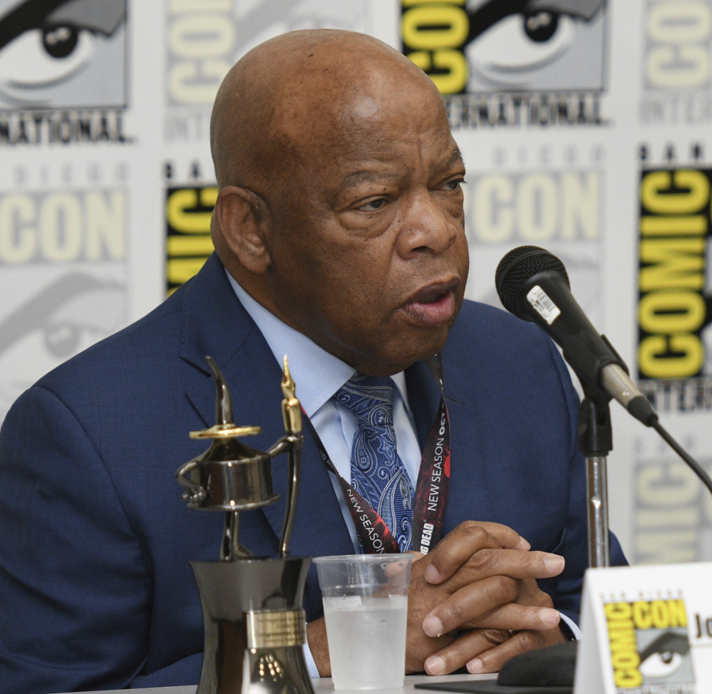 "Rep. John Lewis, D-Ga., participates in a panel for ""March"" at Comic-Con in San Diego on Saturday."