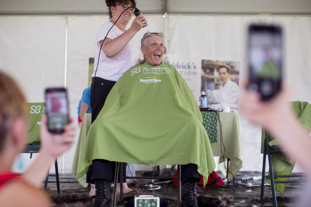 Westbrook Police And Others Shave Their Heads For A Cause Portland