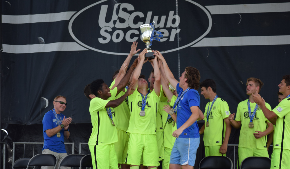 The Seacoast United 19-U boys' soccer team beat the Eastern FC Spurs 3-1 on Monday to win the U.S. Club Soccer National Cup XVI Championship in Westfield, Indiana. Seacoast United went 4-0 in the six-team tournament.