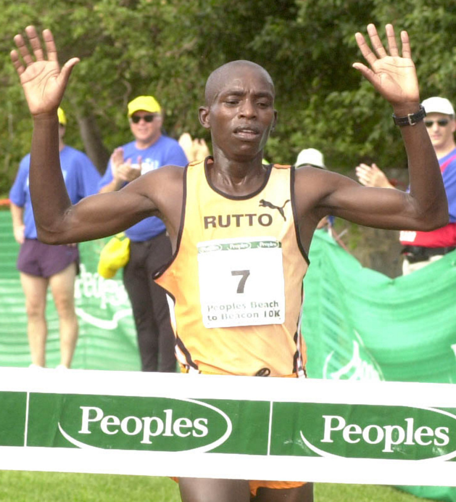 Evans Rutto of Kenya was just 23 years old when he won the Beach to Beacon in 2001 with a time of 28:30.