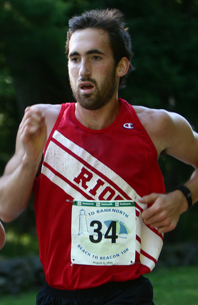 Eric Giddings of South Portland was only 18 years old when he won the Maine men's race in a record time of 30:34.