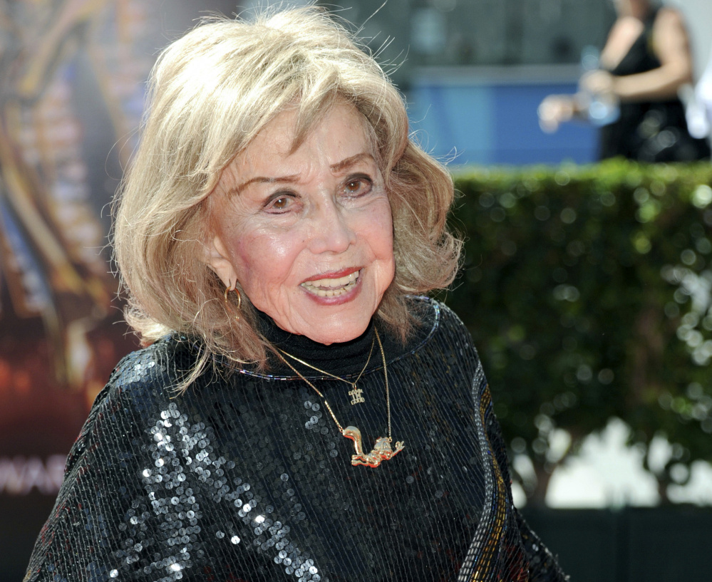 June Foray in 2013.  She portrayed a wide range of characters and was considered perhaps the most prolific and dynamic voice  actress in Hollywood,  capable of giving voice to a character with little more than an off-the-cuff drawing.