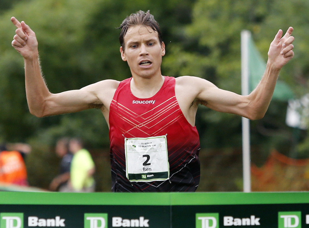 Ben True, the former Greely High and Dartmouth College runner, was the first across the line a year ago.