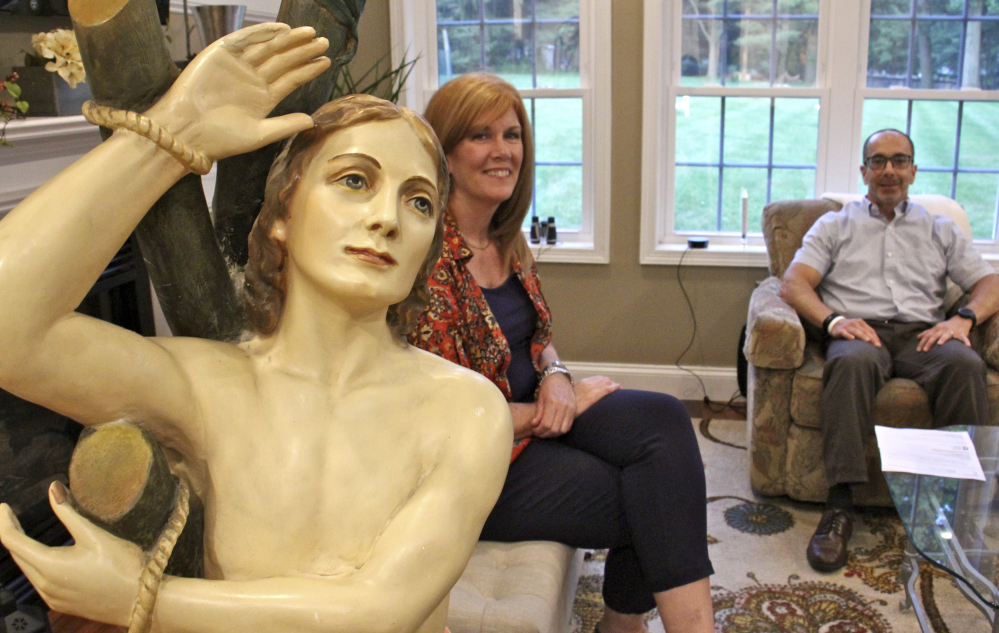 Having solved the mystery of their family's odd relic, Ed and Kathleen Nader, of Exton, Pa., will return the St. Pantaleon statue that has been in Ed's family ever since it was lost by an Italian church in 1946.