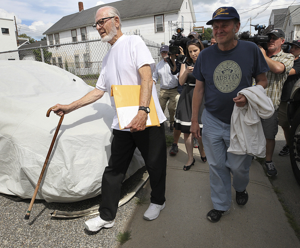 Former Catholic priest Paul Shanley, 86, arrives his new home in Ware, Mass. A central figure in Boston's clergy sex abuse scandal, Shanley was released from prison Friday.