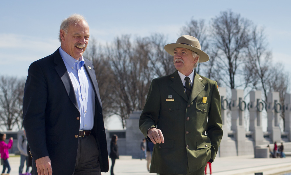 Yellowstone National Park Superintendent Dan Wenk, left, shown with National Park Service Director Jonathan Jarvis, says the allegations are being taken seriously.