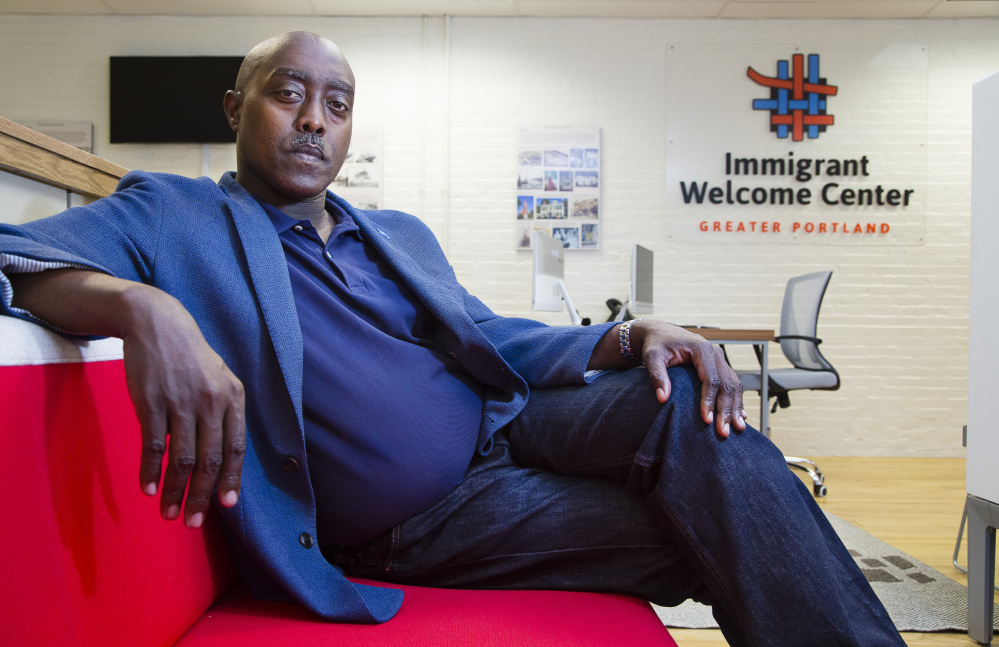 Alain Nahimana, interim executive director of the Greater Portland Immigrant Welcome Center, says an aim is to help immigrants secure citizenship loans.
