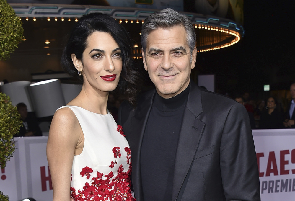 Amal Clooney and George Clooney in 2016