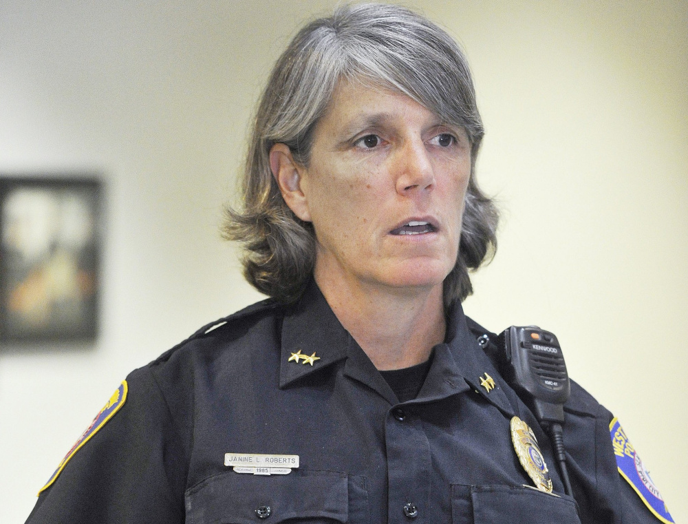 Westbrook Police Chief Janine Roberts