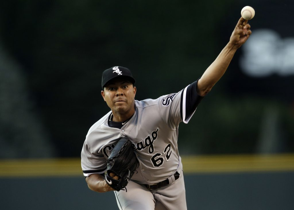 The Chicago Cubs acquired left-handed pitcher Jose Quintana from the Chicago White Sox for outfielder Eloy Jimenez, right-handed pitcher Dylan Cease, and infielders Matt Rose and Bryant Flete, on Thursday.