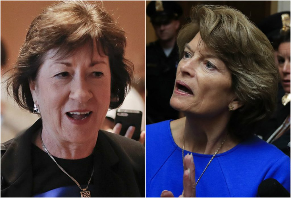 Sens. Susan Collins of Maine and Lisa Murkowski of Alaska.