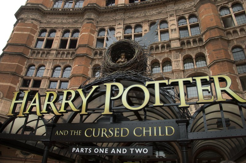 Harry Potter publisher Bloomsbury says two new books from the Harry Potter universe are set to be released in October as part of a British exhibition that celebrates the 20th anniversary of the launch of the series.  Joel Ryan/Invision/AP, File