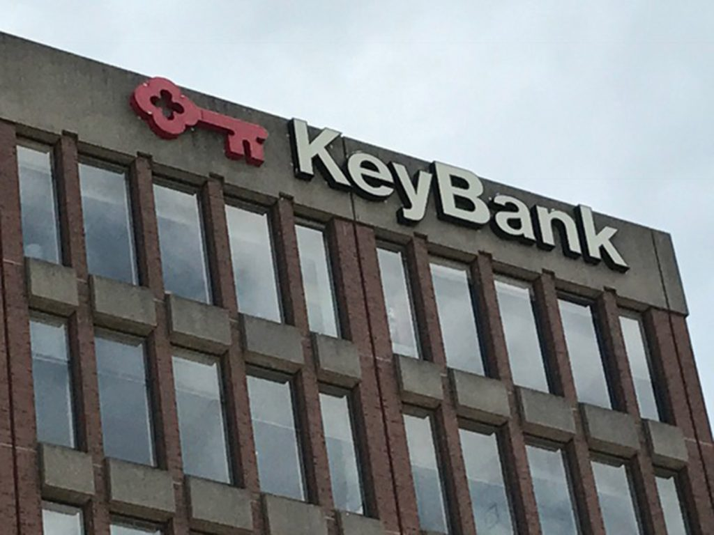 Several KeyBank branches in Portland and South Portland were closed Tuesday after a robbery threat.