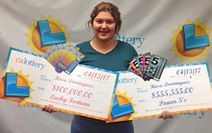 Rosa Dominguez with her tidy payouts.