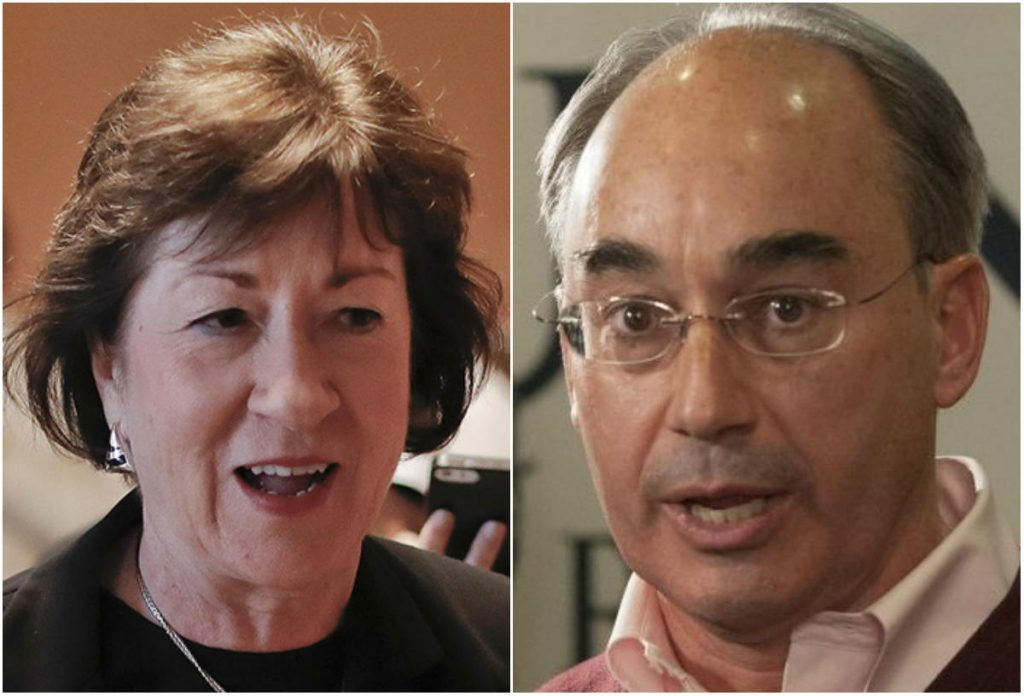 U.S. Sen. Susan Collins and U.S. Rep. Bruce Poliquin of the 2nd District, both Maine Republicans