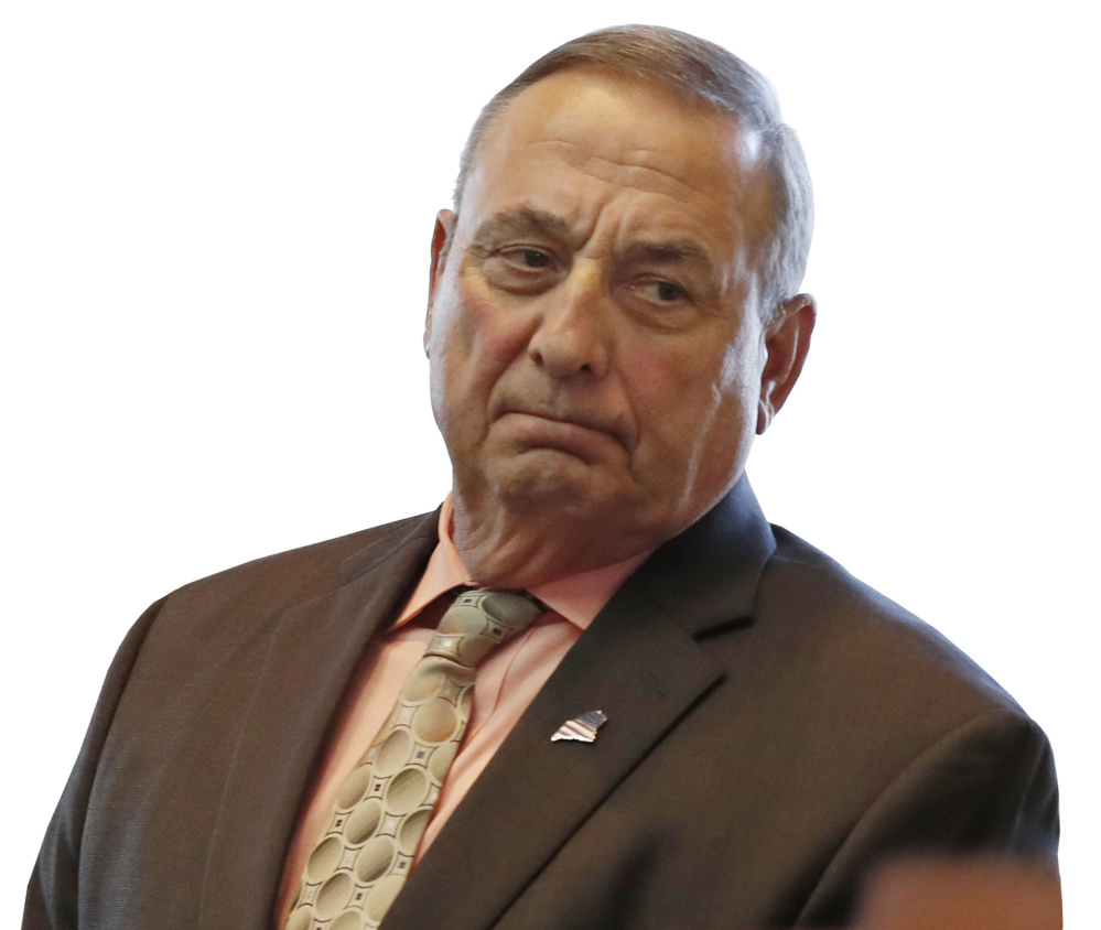 "Gov. LePage: ""U.S. senators like Senators Susan Collins and Angus King are enjoying Cadillac health insurance plans while they are mandating Americans ride a moped."""
