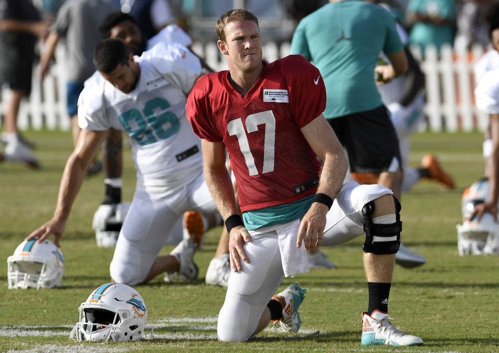 Having suffered a knee injury in training camp, Ryan Tannehill is expected to miss significant time, forcing the Miami Dolphins to look at other available quarterbacks.