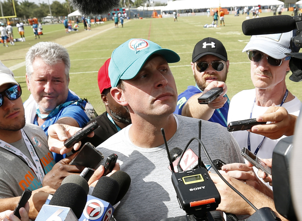 Miami head coach Adam Gase will be reunited with quarterback Jay Cutler, who signed with the Dolphins on Sunday afternoon. Gase was offensive coordinator in Chicago for Cutler's best season in 2015.