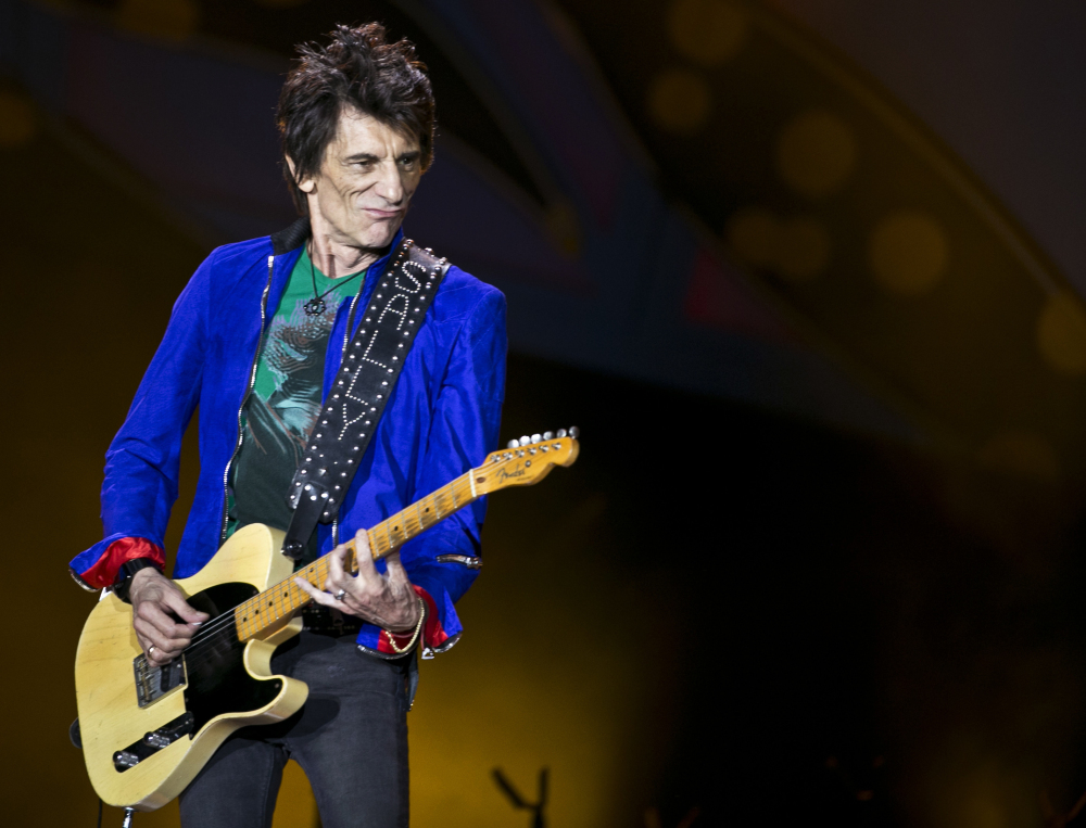 Ronnie Wood plays with the Rolling Stones last year in Havana.