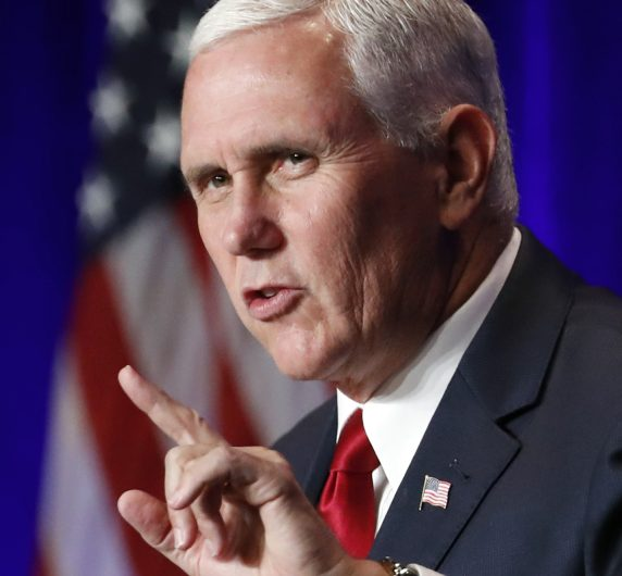 Vice President Mike Pence speaks at the National Conservative Student Conference on Aug. 6 in Washington. As governor of Indiana, Pence expanded Medicaid under the ACA.