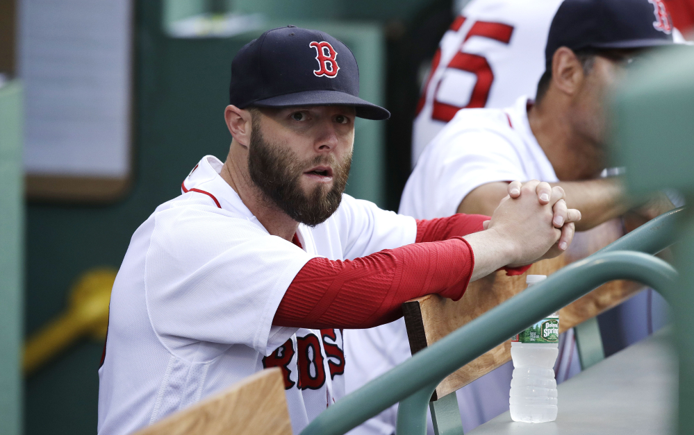 Hobbled by an injured left knee, Dustin Pedroia could come off the disabled list as early as Tuesday, but if so could find a logjammed infield due to Boston's recent acquisitions.